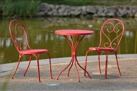 bàn ghế sắt cafe ngoài trời