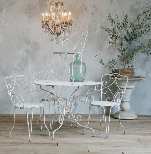bàn ghế sắt cafe ngoài trời đẹp