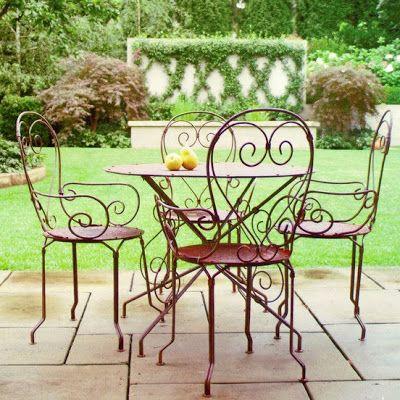 bàn ghế sắt cafe ngoài trời đẹp chất