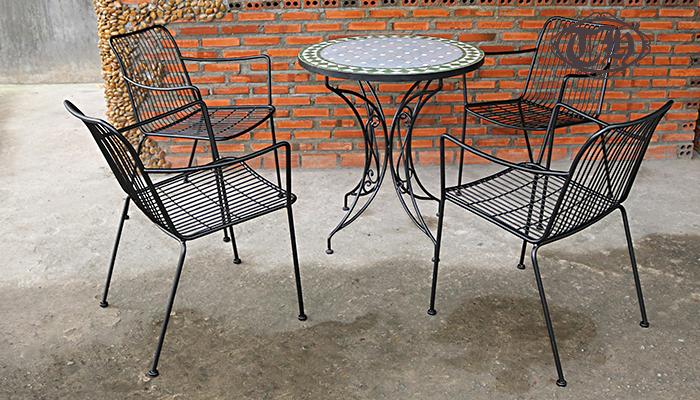 bàn ghế sắt cafe giá cực rẻ 2
