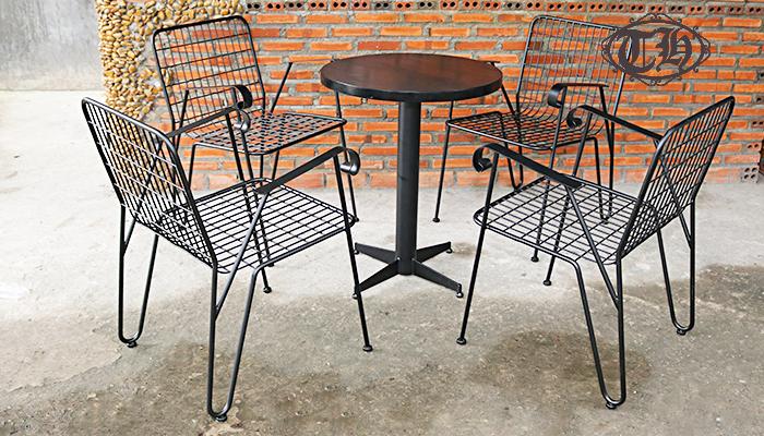 bàn ghế sắt cafe giá cực rẻ