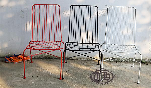 bàn ghế sắt cafe giá cực rẻ màu đỏ