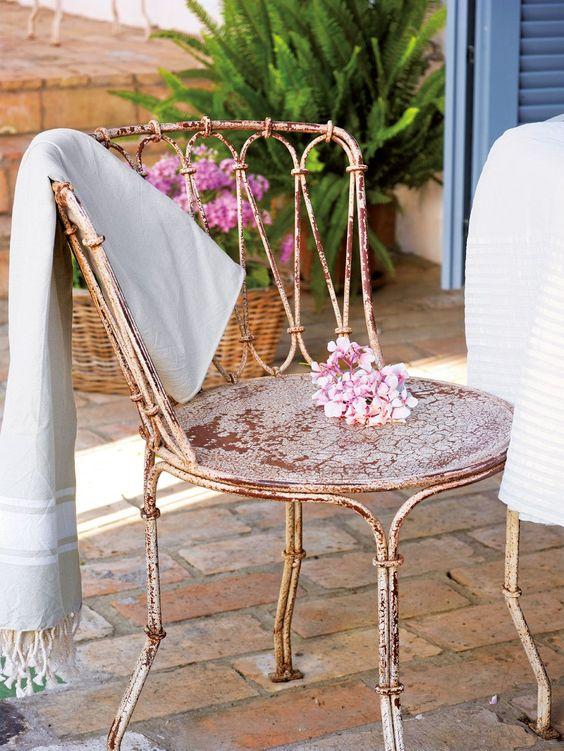 ghế sắt ngoài trời sân vườn 2