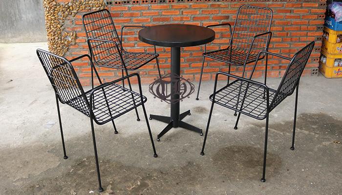 bàn ghế sắt cafe chất lượng