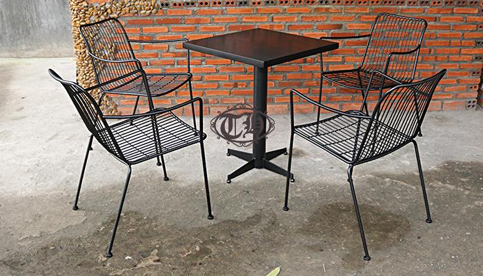 bàn ghế sắt cafe chất lượng hcm