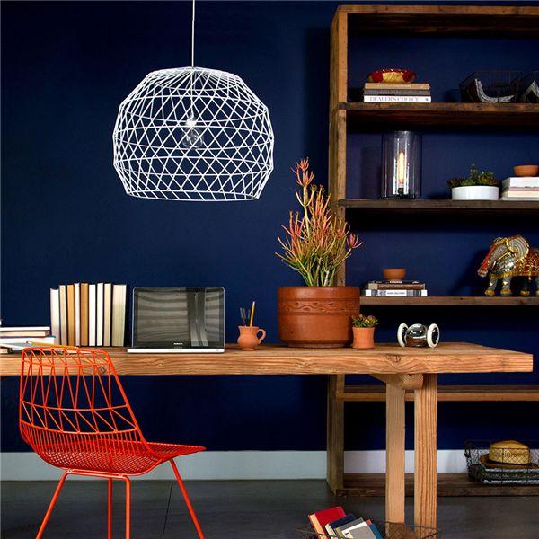 ghế sắt cafe lucy wire đẹp màu đỏ