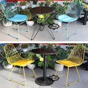 Ghế sắt cafe wire tại xưởng gia công bàn ghế cafe Trí Hiếu có ưu điểm gì?