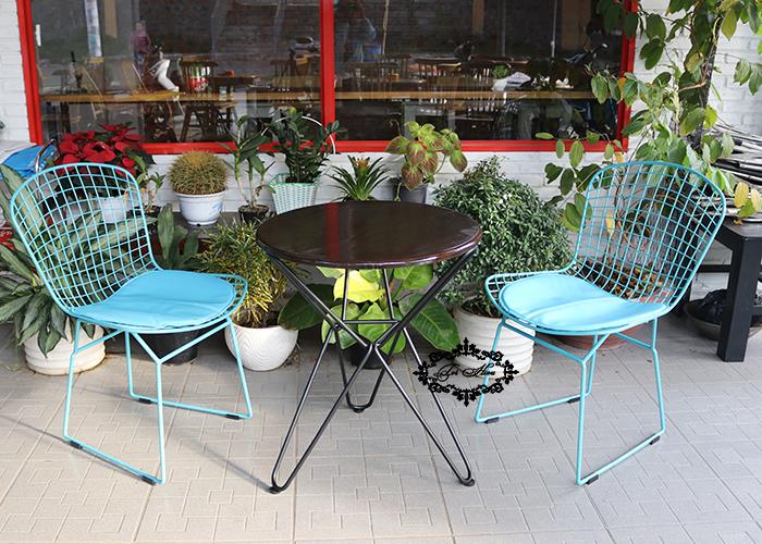 ghế sắt cafe wire hiện đại