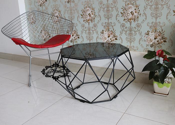 bàn ghế sắt cafe kim cương