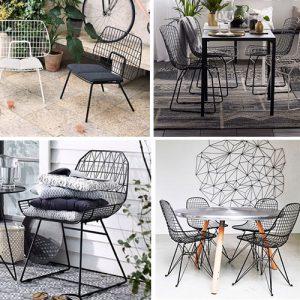 Mê mẫn các ý tưởng thiết kế hiện đại với ghế sắt ngoài trời