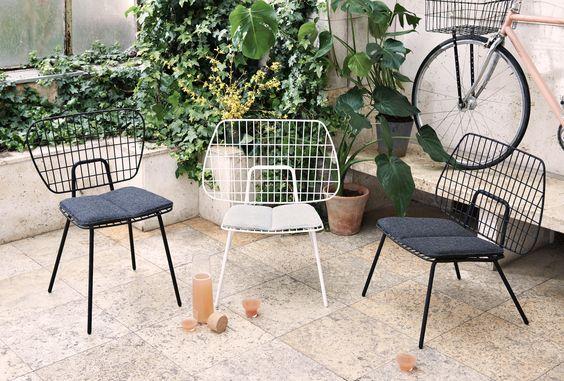 ghế sắt ngoài trời cho quán cafe