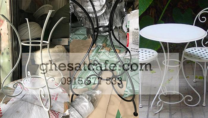 bàn ghế sắt cafe chất lượng 2
