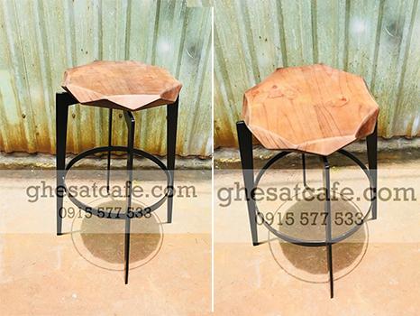 ghế bar sắt mặt gỗ