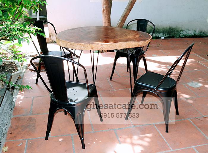bàn ghế cà phê sắt ngoài trời đẹp