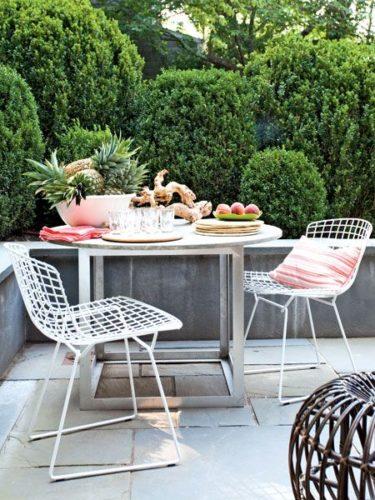 bàn ghế cà phê ngoài trời
