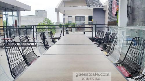 bàn ghế cà phê sắt tphcm