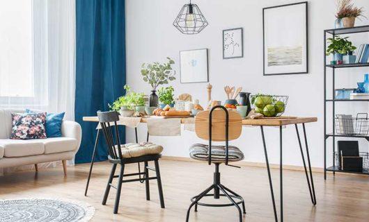 trang trí bàn ghế