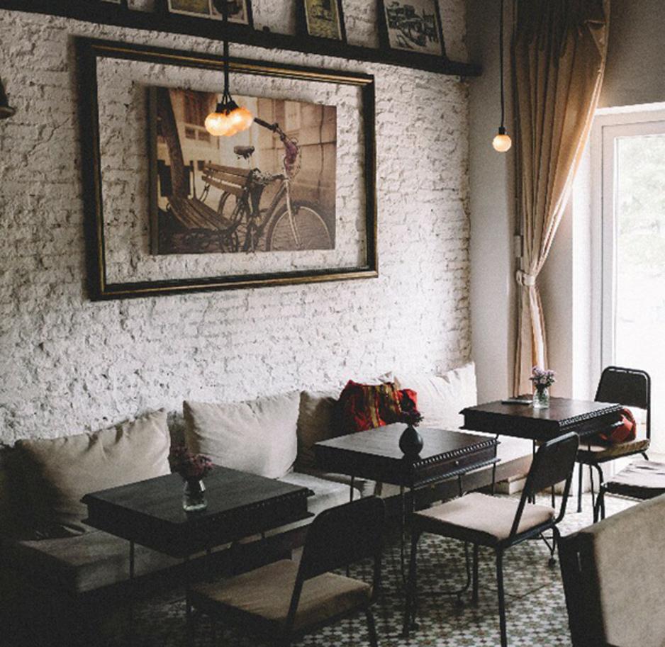 thiết kế quán cafe phong cách retro