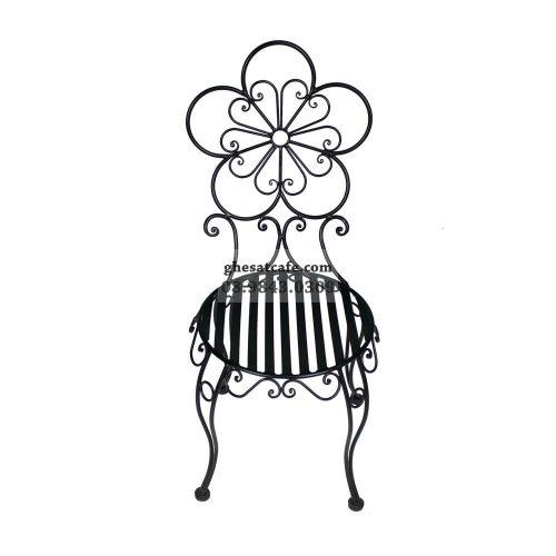 Ghế sắt cafe màu đen