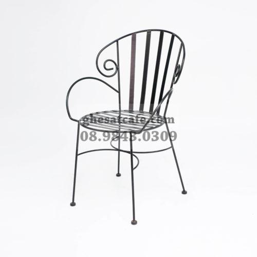 Ghế sắt cafe khung sắt