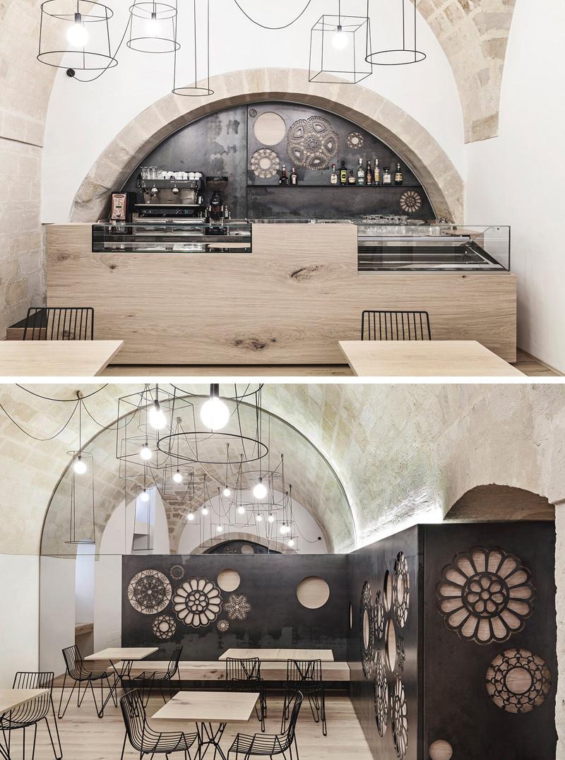 Quán cafe hiện đại mang phong cách tối giản