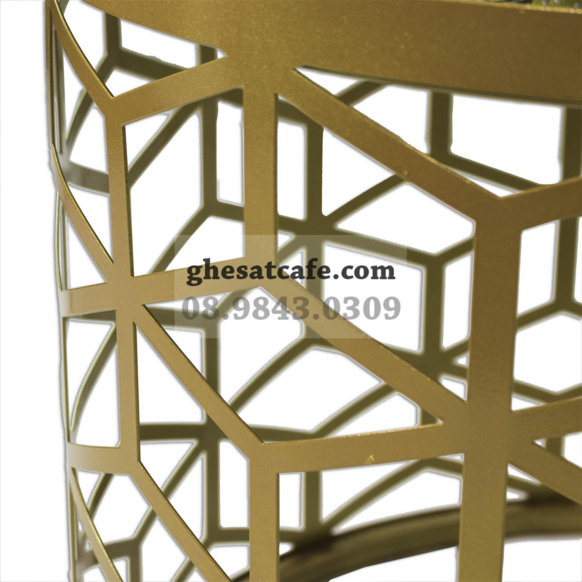 Bàn sofa chân sắt hoạt tiết lục giác (2)
