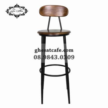Ghế bar chân sắt mặt ngồi tròn (2)