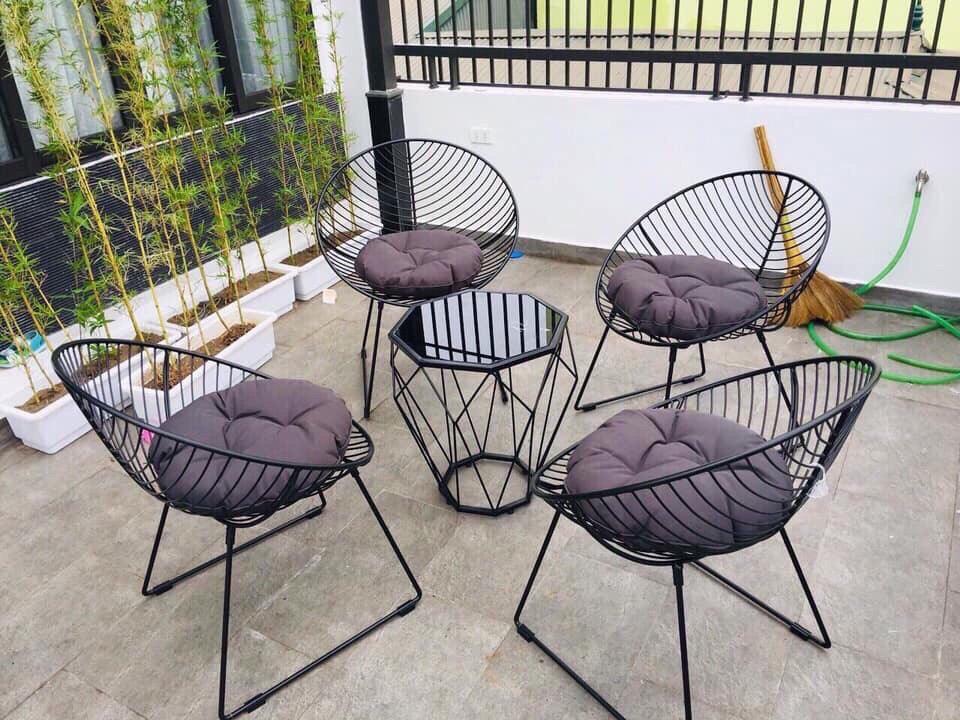 độ bền của ghế sắt cafe