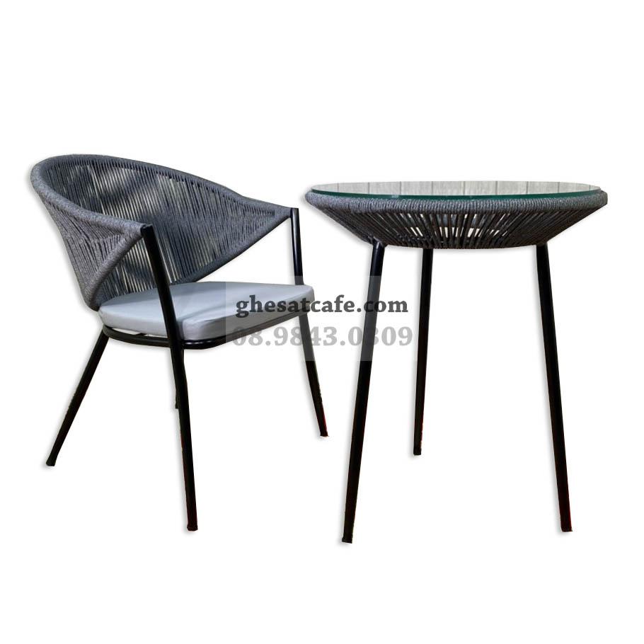 Ghế sắt cafe đan dây GS108 1