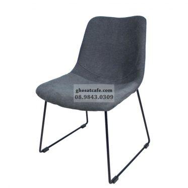 ghế bọc nệm chân sắt thiết kế hiện đại