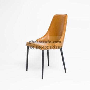 ghế bọc nệm chân sắt phong cách vintage