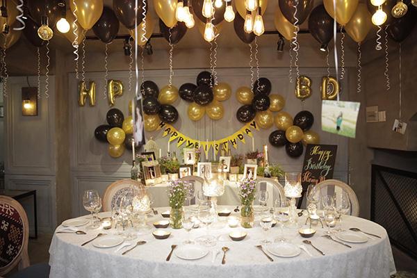 trang trí bàn ăn tiệc sinh nhật cho người lớn (2)