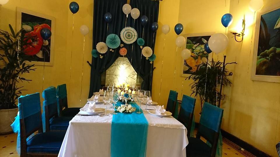 trang trí bàn ăn tiệc sinh nhật cho người lớn