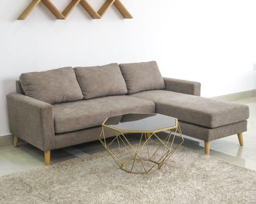 bàn sofa kim cương mặt gỗ