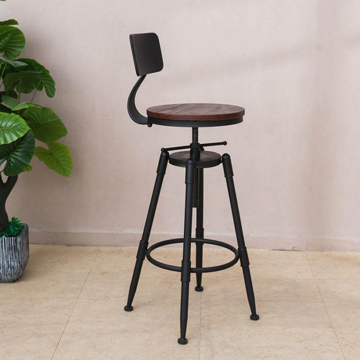 ghế bar chân sắt có lưng tựa (6)